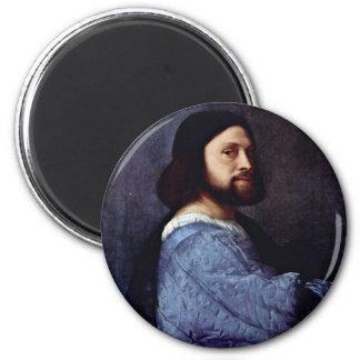 Portrait Of A Man (L'Ariosto) By Tizian Fridge Magnet