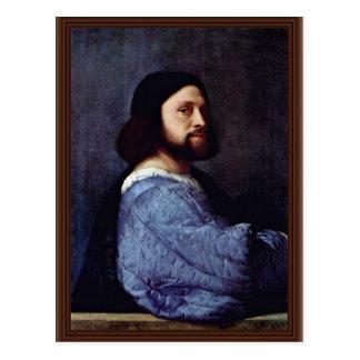 Portrait Of A Man (L'Ariosto) By Tizian Postcard
