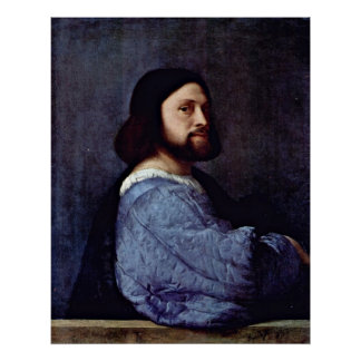 Portrait of a Man (L'Ariosto) by Tiziano Vecelli Poster