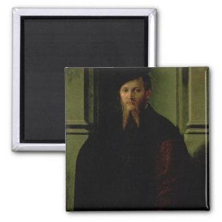 Portrait of a Man 2 Inch Square Magnet