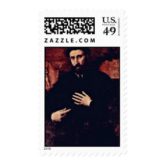 Portrait Of A Man Of 37 Years By Lotto Lorenzo (Be Postage Stamp