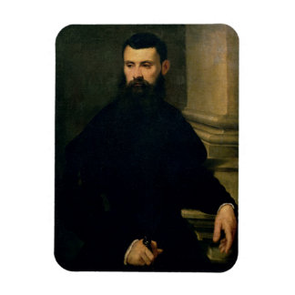 Portrait of a Man (oil on canvas) 2 Rectangular Photo Magnet