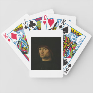 Portrait of a Man, or The Condottiere, 1475 (oil o Bicycle Playing Cards