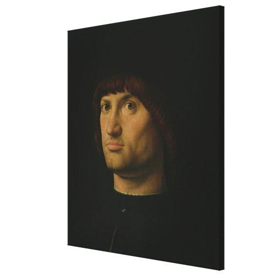 Portrait of a Man, or The Condottiere, 1475 (oil o Canvas Print