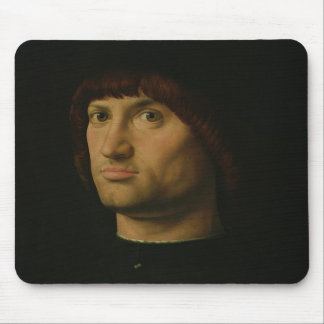 Portrait of a Man, or The Condottiere, 1475 (oil o Mouse Pad