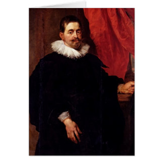 Portrait of a Man, Peter Hecke by Peter Rubens Greeting Card