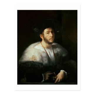 Portrait of a man, possibly Cesare Borgia (1476-15 Postcard