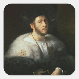 Portrait of a man, possibly Cesare Borgia (1476-15 Square Sticker