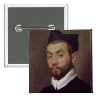 Portrait of a Man, presumed to be Clement Marot Pinback Button