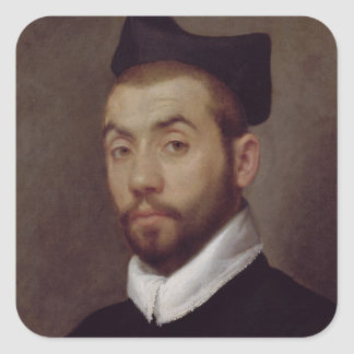 Portrait of a Man, presumed to be Clement Marot Square Sticker