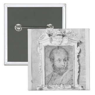 Portrait of a man presumed to be Veronese Pinback Button