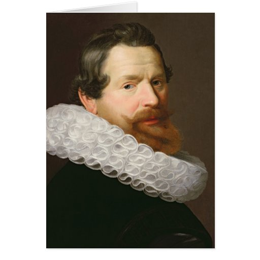 Portrait of a Man Wearing a Ruff Cards