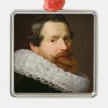 Portrait of a Man Wearing a Ruff Christmas Ornament