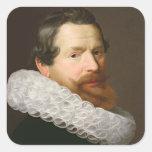 Portrait of a Man Wearing a Ruff Stickers