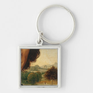 Portrait of a Man with a Coin Keychain