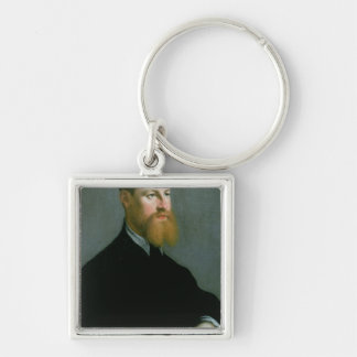 Portrait of a man with a ginger beard keychain