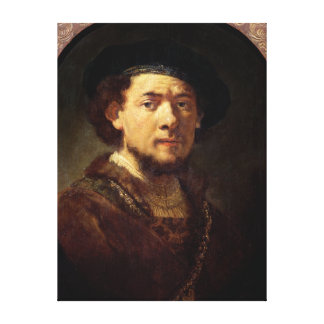 Portrait of a Man with a Gold Chain Canvas Print