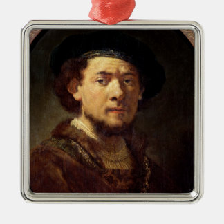 Portrait of a Man with a Gold Chain Metal Ornament