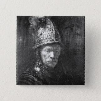 Portrait of a Man with a Golden Helmet, 1648 Pinback Button