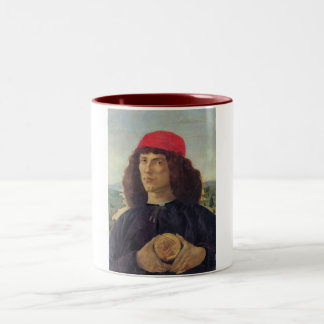 Portrait of a man with a medal of Cosimo the Elder Two-Tone Coffee Mug