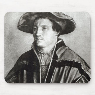 Portrait of a man with a red hat, c.1530 mouse pad