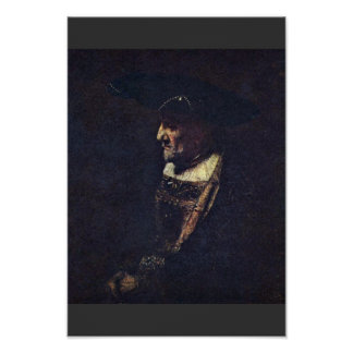 Portrait Of A Man With Beads In His Hat Posters