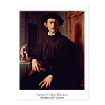 Portrait Of A Man With Lute By Agnolo Di Cosimo Postcard