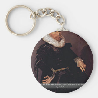 Portrait Of A Man With Pleated Collar Keychains