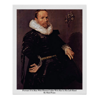 Portrait Of A Man With Pleated Collar Poster