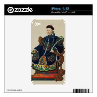 Portrait of a Mandarin (w/c) iPhone 4 Decal