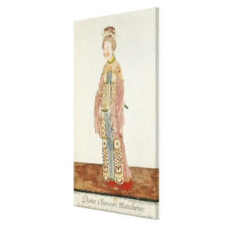 Portrait of a Mandarin Woman Canvas Print