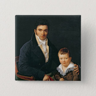 Portrait of a Member of the Barbet Family Pinback Button