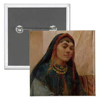 Portrait of a Middle Eastern Girl, c.1859 (oil on Button