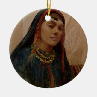 Portrait of a Middle Eastern Girl, c.1859 (oil on Ceramic Ornament