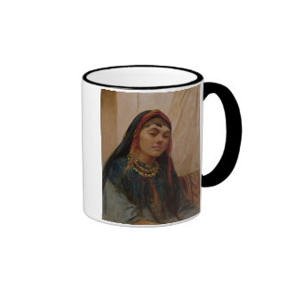 Portrait of a Middle Eastern Girl, c.1859 (oil on Ringer Coffee Mug
