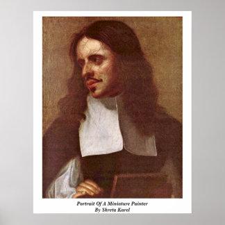 Portrait Of A Miniature Painter By Skreta Karel Print