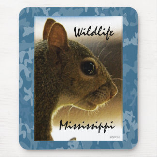 Portrait of a Mississippi Gray Squirrel /Blue Back Mouse Pad