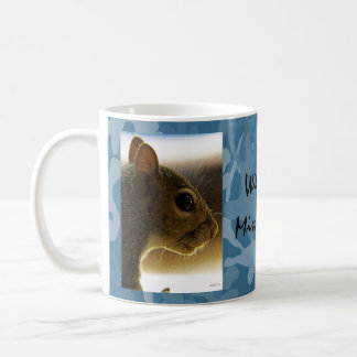 Portrait of a Mississippi Gray Squirrel /Blue Back Mug