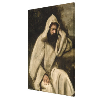 Portrait of a Monk, c.1840-45 (oil on canvas) Stretched Canvas Print
