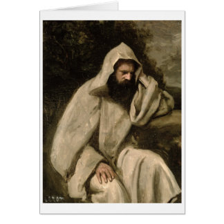Portrait of a Monk, c.1840-45 (oil on canvas) Card