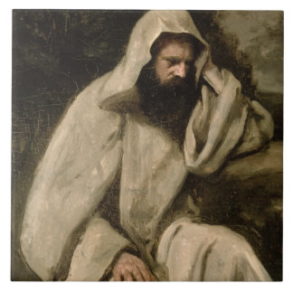 Portrait of a Monk, c.1840-45 (oil on canvas) Ceramic Tile