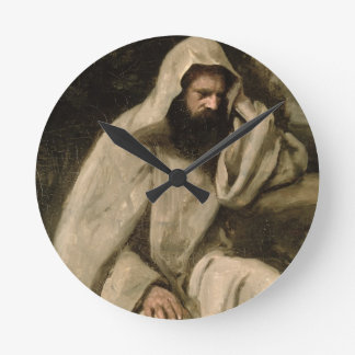 Portrait of a Monk, c.1840-45 (oil on canvas) Round Wallclock