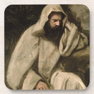 Portrait of a Monk, c.1840-45 (oil on canvas) Coaster