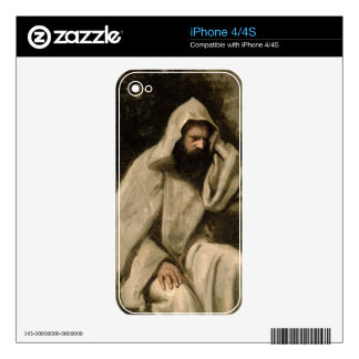 Portrait of a Monk, c.1840-45 (oil on canvas) iPhone 4 Decal