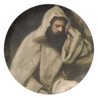 Portrait of a Monk, c.1840-45 (oil on canvas) Melamine Plate