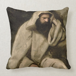 Portrait of a Monk, c.1840-45 (oil on canvas) Throw Pillow