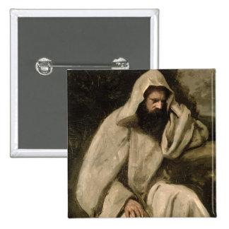 Portrait of a Monk, c.1840-45 (oil on canvas) Pinback Button