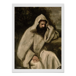 Portrait of a Monk, c.1840-45 (oil on canvas) Poster
