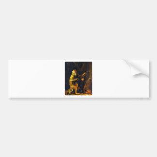Portrait of a Monkey by George Stubbs Bumper Sticker