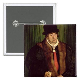 Portrait of a Munich Aristocrat, 1559 2 Inch Square Button